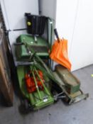 HAYTER PETROL DRIVEN ROTARY MOTOR MOWER AND A VINTGE LAWN MOWER (2)