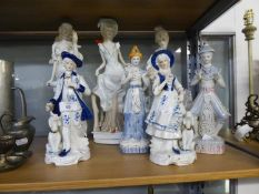 SEVEN MODERN CONTINENTAL PORCELAIN FIGURES OF LLADRO/NAO TYPE (7)