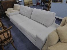 A LARGE MODERN BED SETTEE WITH PULL-OUT ACTION