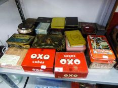 QUANTITY OF COLLECTIBLE TINS VARIOUS TO INCLUDE; OXO, CIGARETTES, LADYBIRD AND OTHER BRAND TINS
