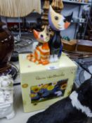 ROSINA WATCHMEISTER FOR GOEBEL PORCELAIN LIMITED EDITION STYLISED GROUP OF TWO CATS, 'SERAFINO AND