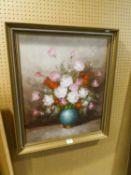 "PATERSON (MODERN)OIL PAINTING ON CANVAS FLOWERS IN A VASESIGNED LOWER RIGHT 24"" X 20"" (61cm x 51cm)"