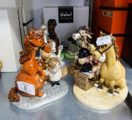 SIX MODERN ROYAL DOULTON 'THELWELL' HUMOROUS FIGURINES (6)