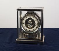 JAEGER-LECOULTRE ATMOS CLASSIC MANTEL CLOCK in chromium plated case, contained in original faux