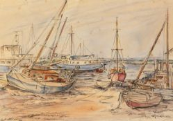 WINIFRED PICKFORD (Modern) LINE AND WASH DRAWING 'High and Dry' Signed lower right, titled on The