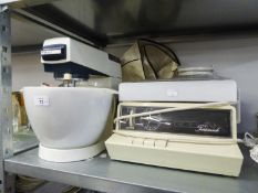 A KENWOOD CHEF ELECTRIC MIXER (A.F.) AND A GOBLIN TEASMADE