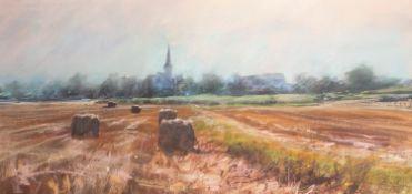 JAMES BARTHOLOMEW (b.1970) PASTEL ?Church at Foissy, Burgundy? Signed 19? x 39? (48.2cm x 99cm) C/R-