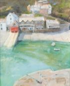 JAMES BARTHOLOMEW (b.1970) PASTEL ?Clovelly From the Harbour? Signed 25? x 20? (63.5cm x 50.8cm) C/