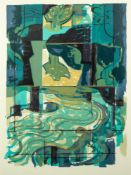 NORMAN JAQUES (1922-2014) TWO LIMITED EDITION COLOUR PRINTS Chromatic Apparition, (4/8) 28? x 19? (