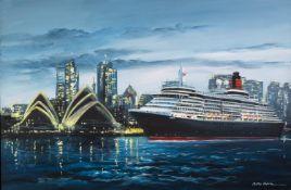 CSILLA ORBAN (b.1961) OIL ON CANVAS ?Queen Victoria, Sydney Harbour? Signed 24? x 36? (61cm x 91.