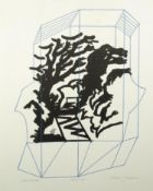 NORMAN JAQUES (1922-2014) TWO ARTIST SIGNED LIMITED EDITION COLOUR PRINTS ?Caged Landscape?,
