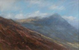 JAMES BARTHOLOMEW (b.1970) PASTEL ?Storm Clearing, Langdales, Lake District? Signed 13? x 20? (