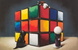 DOUG HYDE (b. 1972) ARTIST SIGNED LIMITED EDITION COLOUR PRINT?The Faces of Love?, (227/395), with