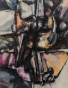 PETER OAKLEY (1935-2007) FOUR WORKS MIXED MEDIA ?Dominant Partner?, (19)88 15? x 11 ½? (38.1cm x