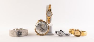 LIMIT MID-20th CENTURY SLIM GILT METAL CASED POCKET WATCH, with 17 jewels, incabloc movement,