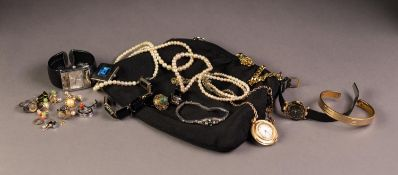 THREE OMAX, CITRON AND CARVEX QUARTZ LADY'S FASHION WATCHES and a gilt metal cased Remiz 17 jewel