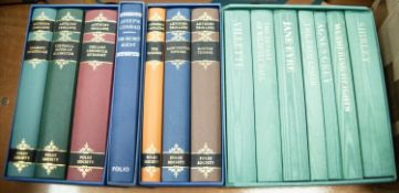 FOLIO SOCIETY, FICTION. CHARLOTTE, EMILY & ANNE BRONTE - THE COMPLETE NOVELS, seven volumes in