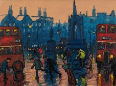 JAMES DOWNIE (b.1949) ACRYLIC ON CANVASAlbert Square, Manchester Signed and dated 2011 11 ¼? x 15 ¼?