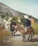 †ROGER HAMPSON (1925 - 1996) OIL PAINTING ON CANVAS Peasant Women, Rhodes Signed lower right,