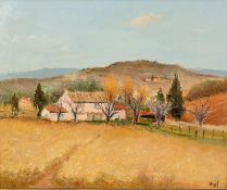 † MARCEL DYF (1899 - 1985) OIL ON CANVAS Maison Rose en Provence Signed lower right, executed 1983