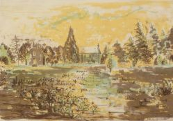 MARGARET GUMUCHIAN (1928 - 1999) ARTIST SIGNED ORIGINAL LITHOGRAPH The Kirk, Carbridge Signed