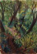 MARGARET GUMUCHIAN (1928 - 1999) GOUACHE DRAWING The Glade Signed lower right 13 3/4 x 9 1/2in (35 x