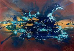 DANNY CAWLEY (b. 1971) MIXED MEDIA ON BOX CANVAS Zante Storm Signed, titled and dated verso 27 1/2 x