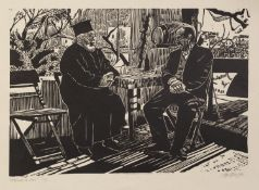 ROGER HAMPSON (1925 - 1996) LINOCUT Afternoon in Simi Signed in pencil lower right, titled and