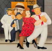 † BERYL COOK (1926 - 2008) ARTIST SIGNED LIMITED EDITION SCREEN PRINT Tango Busking Numbered 134/395