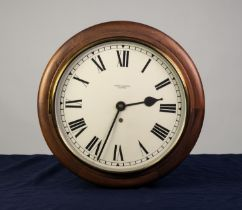 THOMAS SAMPSON, OLDHAM, MAHOGANY CASED WALL CLOCK, the 12? enamelled Roman dial powered by a