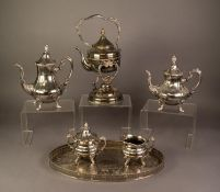 HOUSE OF FRAZER FOUR PIECE ELECTROPLATED TEA AND COFFEE SET, of baluster form with ornate scroll
