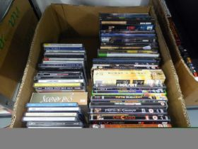 LARGE QUANTITY OF CD's, DVD's TO INCLUDE; MUSICAL CD's, ROCKY HORROR SHOW, PHANTOM OF THE OPERA