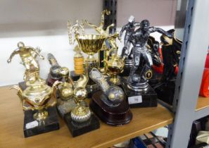 A NUMBER OF FOOTBALL AND OTHER TROPHIES
