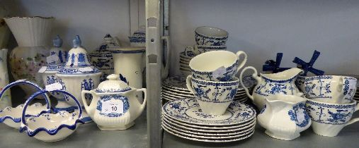JOHNSON BROS. ?INDIES? PATTERN BLUE AND WHITE DINNER AND TEA WARES AND OTHER BLUE AND WHITE WARES