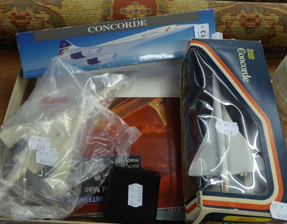 CORGI DIE CAST AEROPLANE MODEL, CONCORD ?650?, MINT AND BOXED, AND A BRITISH AIRWAYS PLASTIC ?