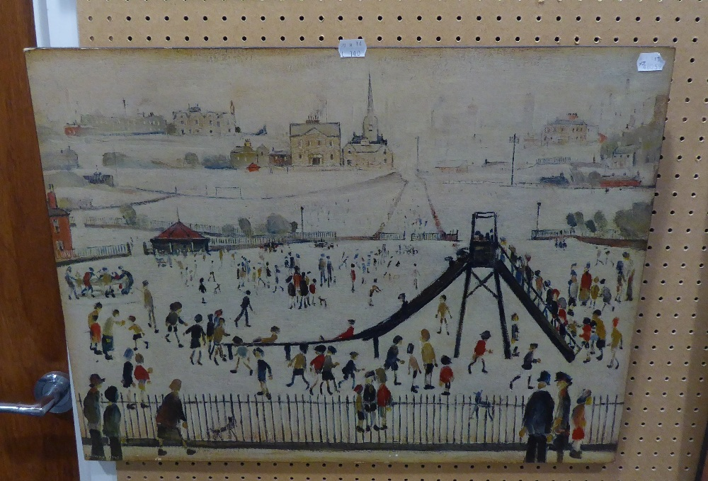 AFTER L.P. LOWRY, THREE BLOCK PRINTS (3) - Image 2 of 2