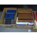 A SET OF BOOKS, UNIFORMLY BOUND, INCLUDING ?WORKS OF DICKENS? AND ?PICTORIAL HISTORY OF THE WORLD?