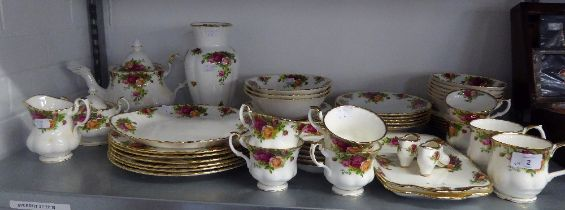 ROYAL ALBERT CHINA ?OLD COUNTRY ROSES? PATTERN DINNER AND TEA WARES, APPROXIMATELY 54 PIECES, ALSO A