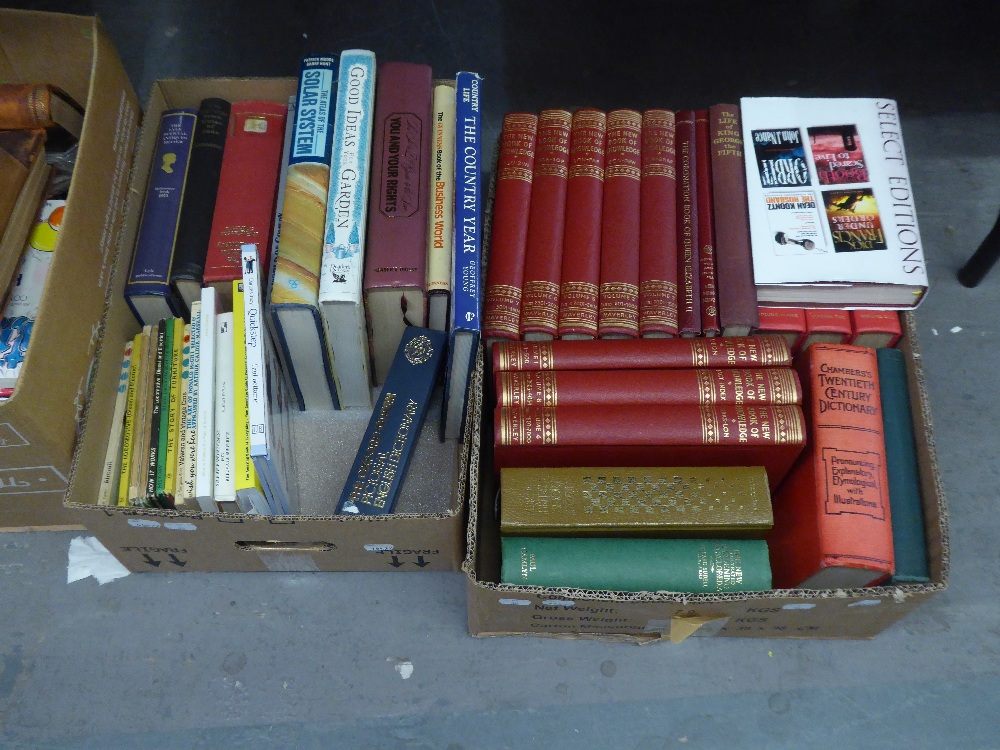 A SET OF BOOKS, UNIFORMLY BOUND, INCLUDING ?WORKS OF DICKENS? AND ?PICTORIAL HISTORY OF THE WORLD? - Image 2 of 2