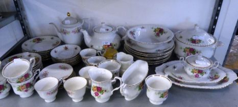 CONTINENTAL FLORAL DECORATED CHINA DINNER AND TEA WARES, VARIOUS MAKERS