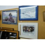 FACSIMILE PHOTOGRAPH AND SIGNATURES OF CORONATION STREET CAST INCLUDING ROY HUDD, FRAMED AND