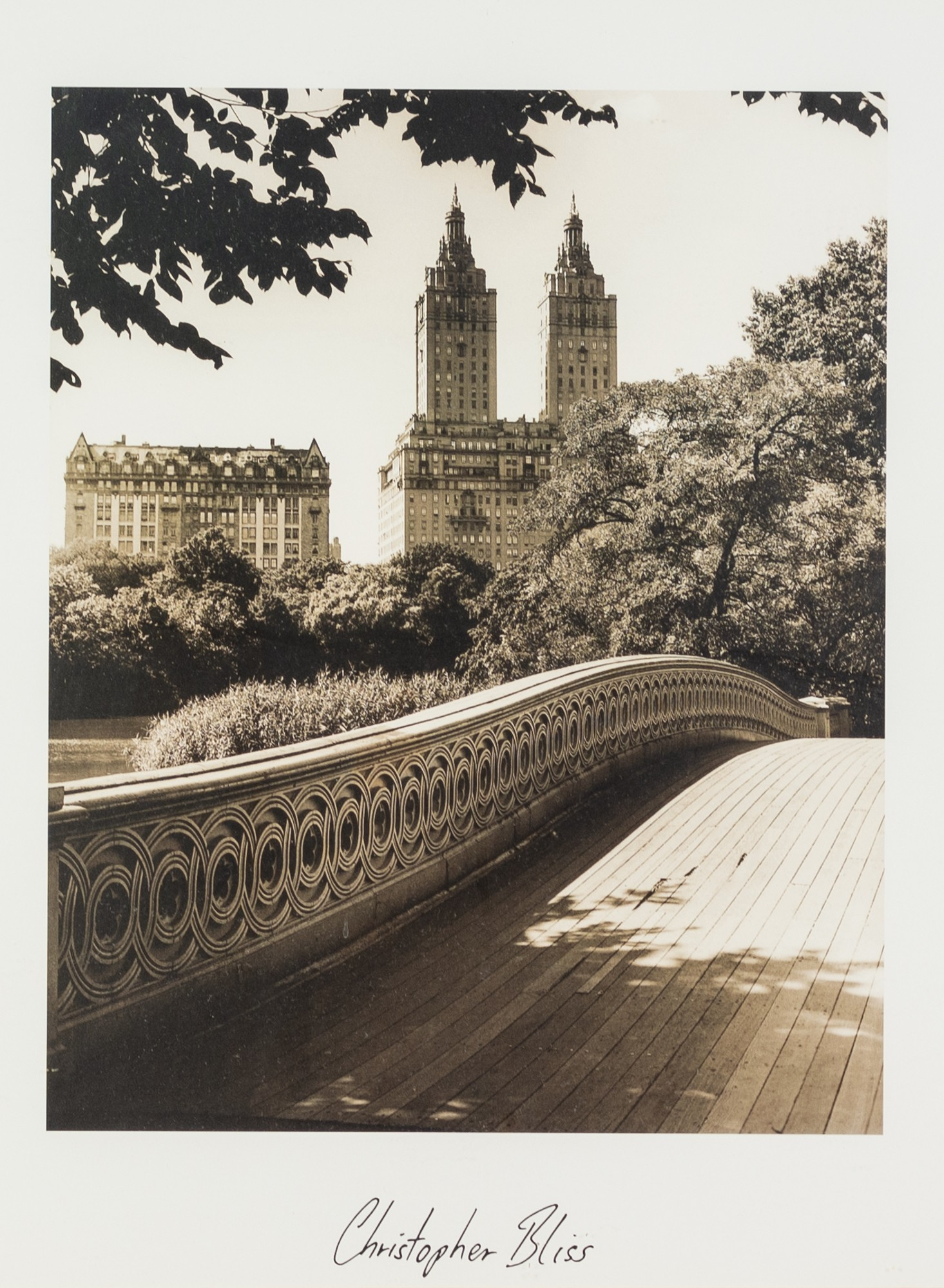 CHRISTOPHER BLISS (AMERICAN) TWO BLACK AND WHITE PHOTOGRAPHIC PRINTS New York Cityscapes each with