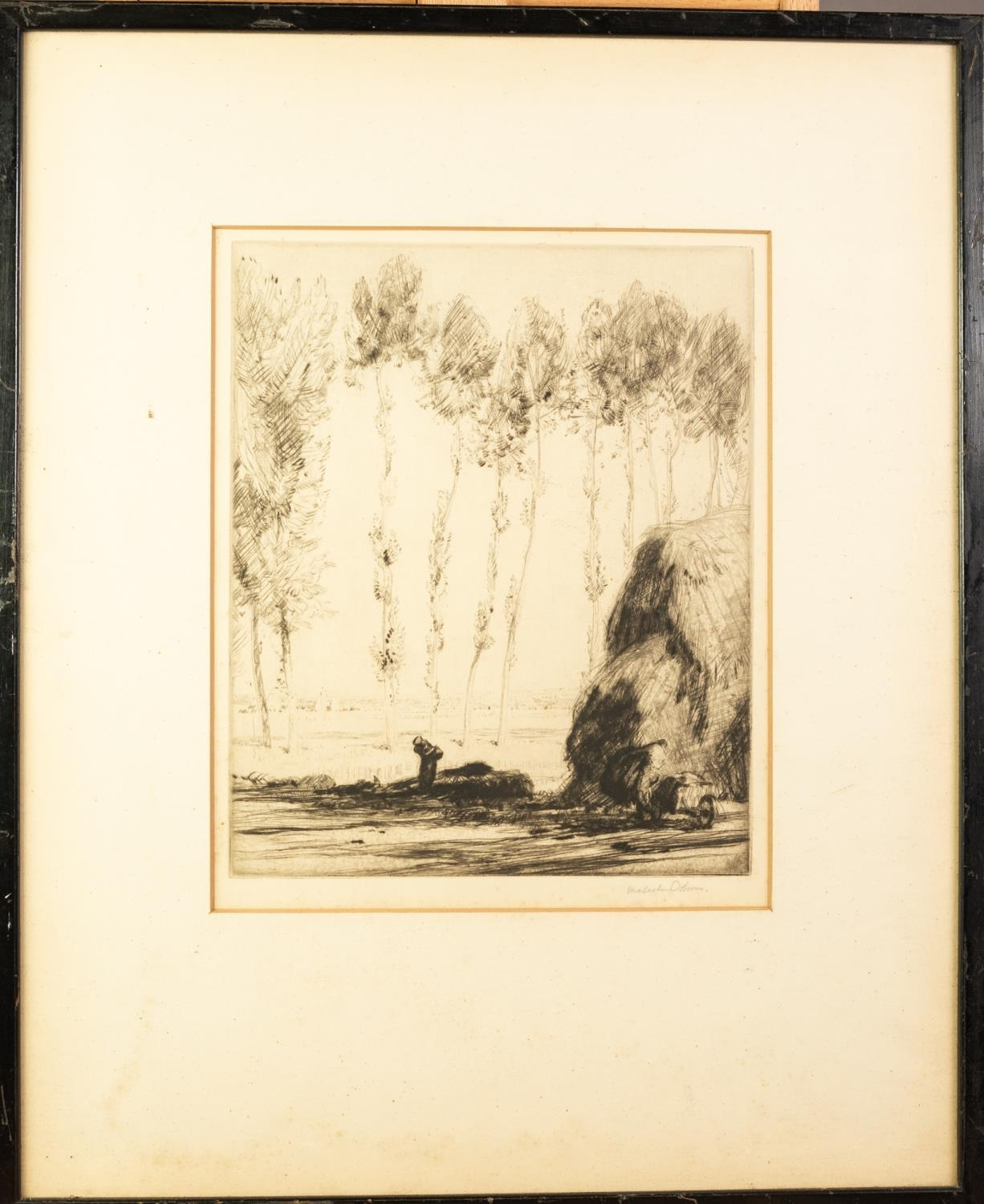 MALCOLM OSBORNE R.A. (1880-1963) ETCHING 'Avignon' Signed in pencil, titled on Gallery label - Image 2 of 2