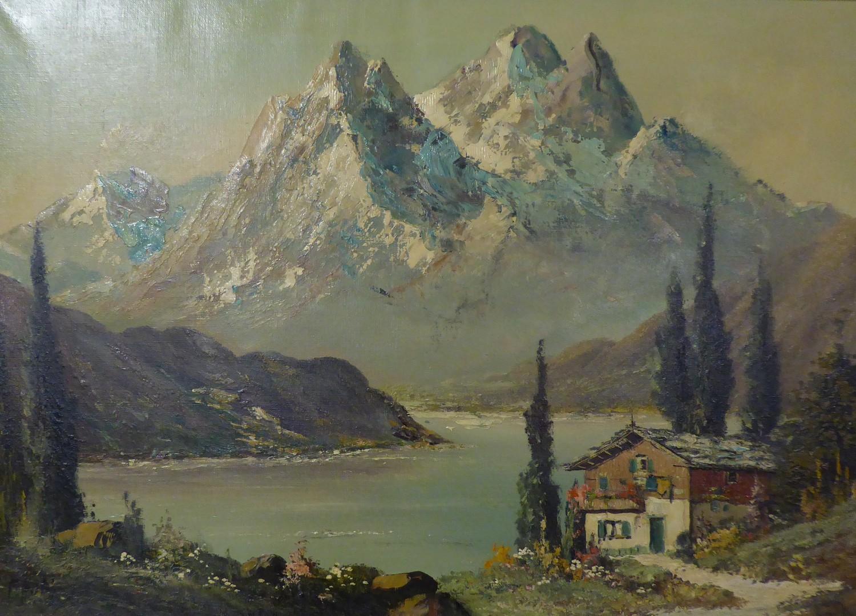 CONTINENTAL SCHOOL (20th Century) Alpine scene ANOTHER CONTINENTAL SCHOOL (20th Century)