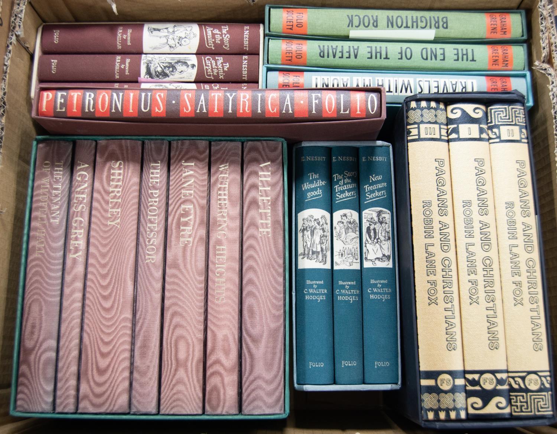 FOLIO SOCIETY. Charlotte, Emily, Anne, Bronte The Complete Novels, 7 vol set. E Nesbit- The