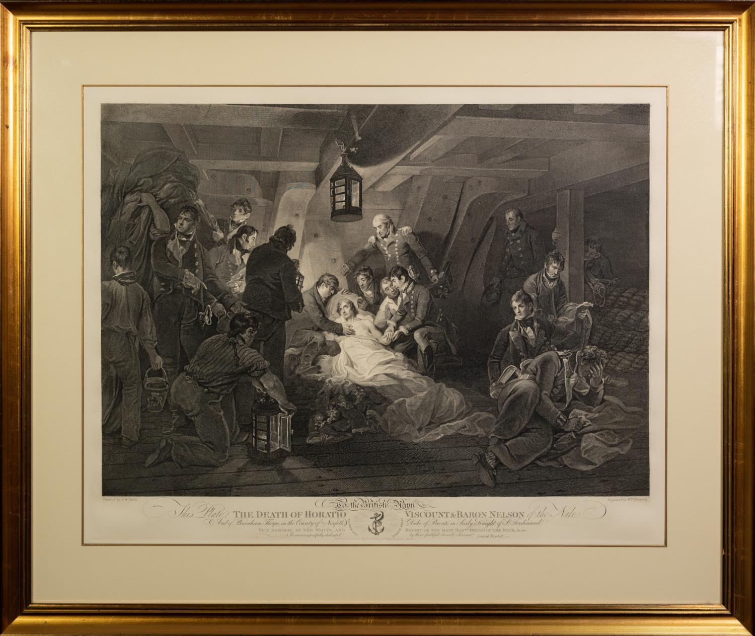 WILLIAM BROMLEY AFTER A.W. DAVIS ENGRAVING ?The Death of Horatio Viscount & Baron Nelson? 16 ½? x - Image 2 of 2