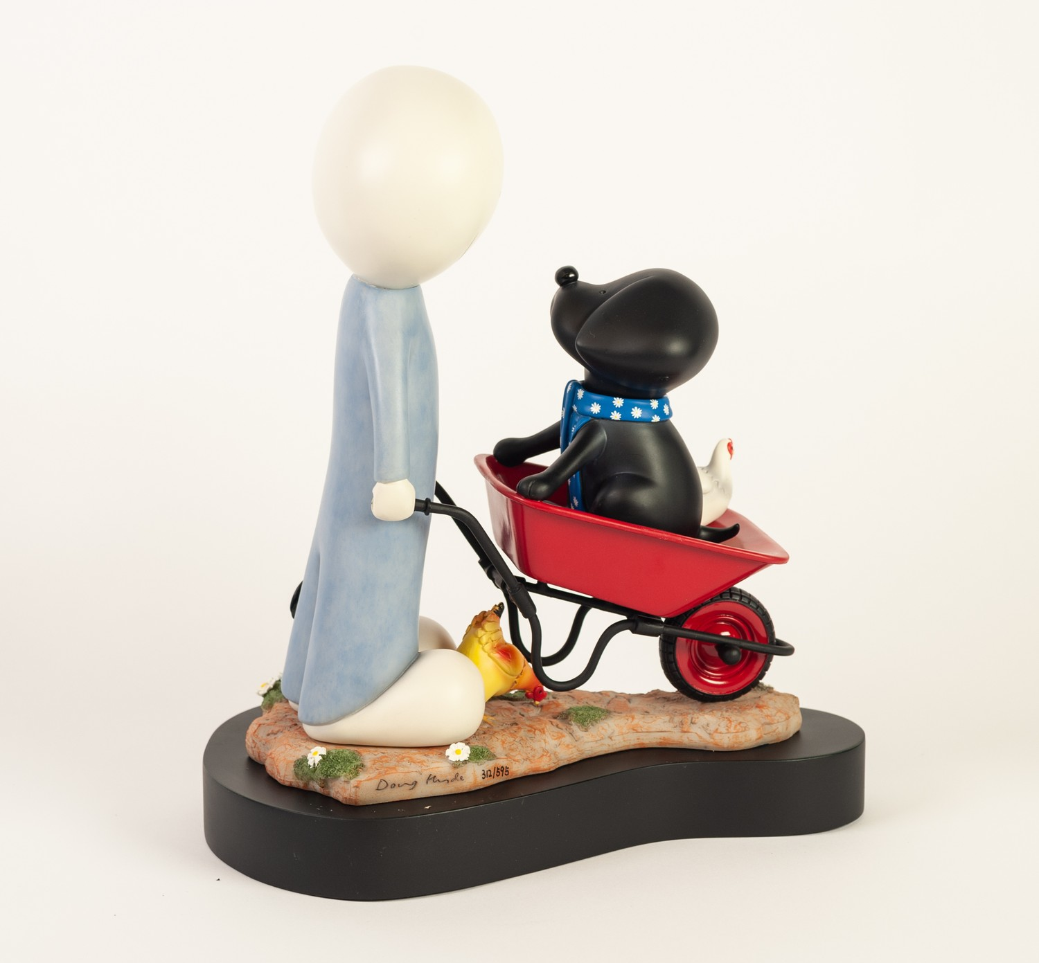 *DOUG HYDE (b.1972) LIMITED EDITION ?COLD CAST PORCELAIN? MOULDED SCULPTURE ?Daisy Trail?, (357/ - Image 2 of 2