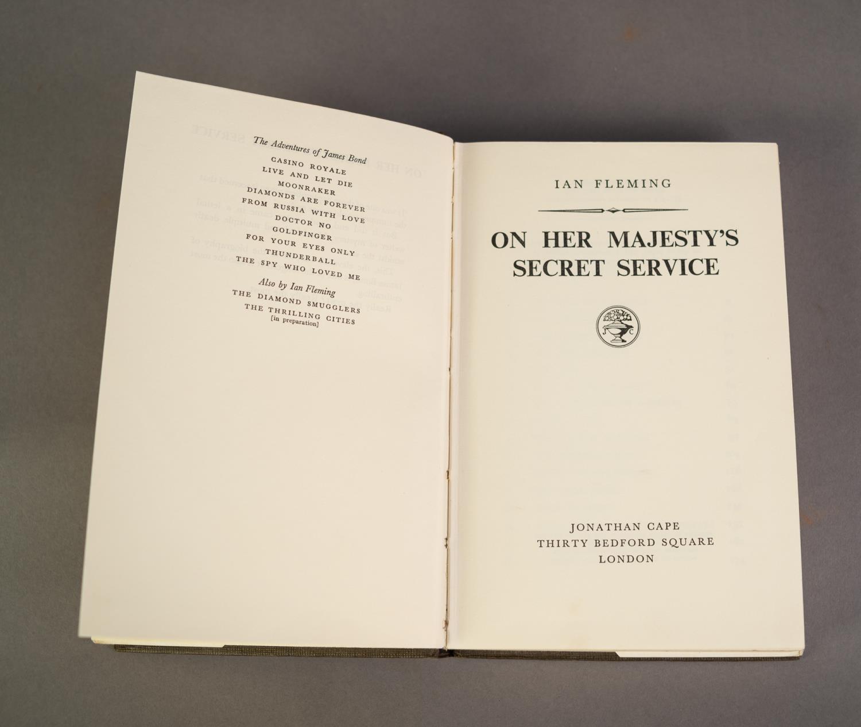 JAMES BOND. Ian Fleming- On Her Majesty?s Secret Service, OHMSS, pub Jonathan Cape, 1963, 2nd - Image 4 of 5