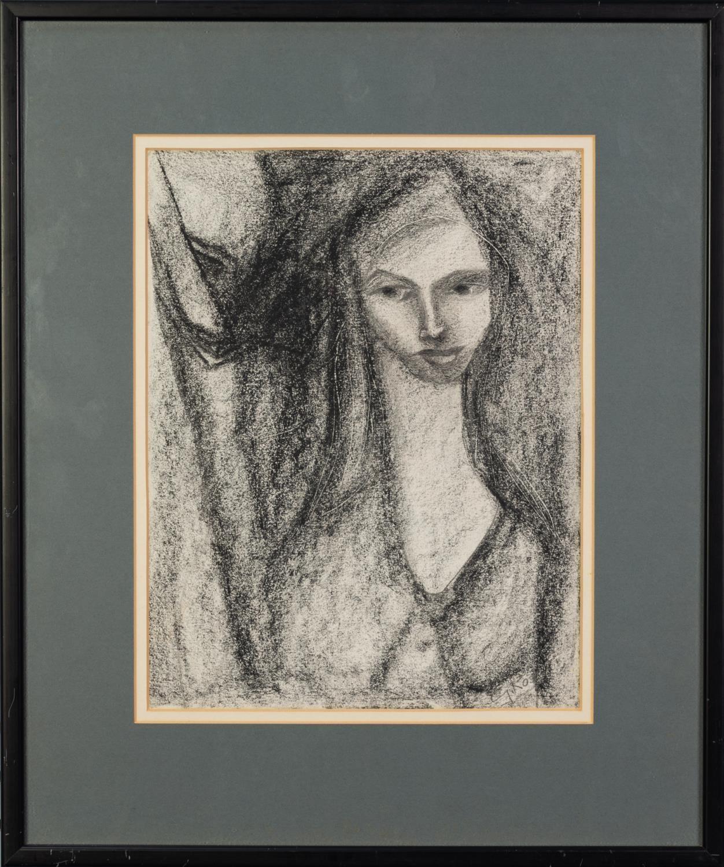 GOLDA ROSE (1921-2016) GRAPHITE Female portrait Signed 11 ¼? x 8 ¾? (28.6cm x 22.2cm) C/R-good - Image 2 of 2