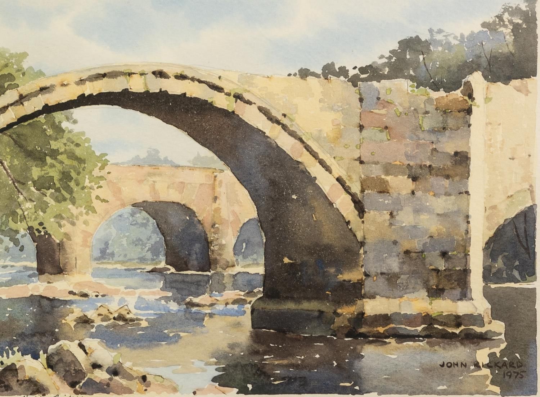 JOHN RICKARD (TWENTIETH/ TWENTY FIRST CENTURY) WATERCOLOUR DRAWING ?Hodder Bridges? Signed and